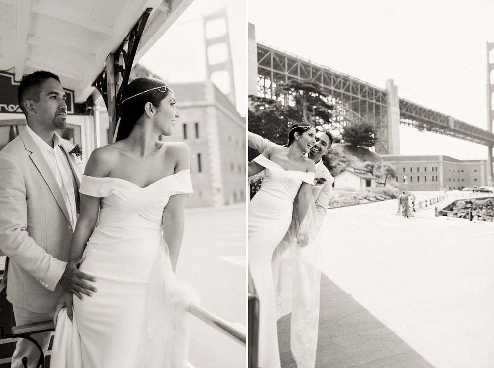 golden gate bridge wedding photos