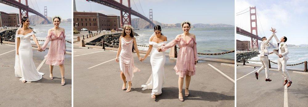 wedding photos at golden gate bridge