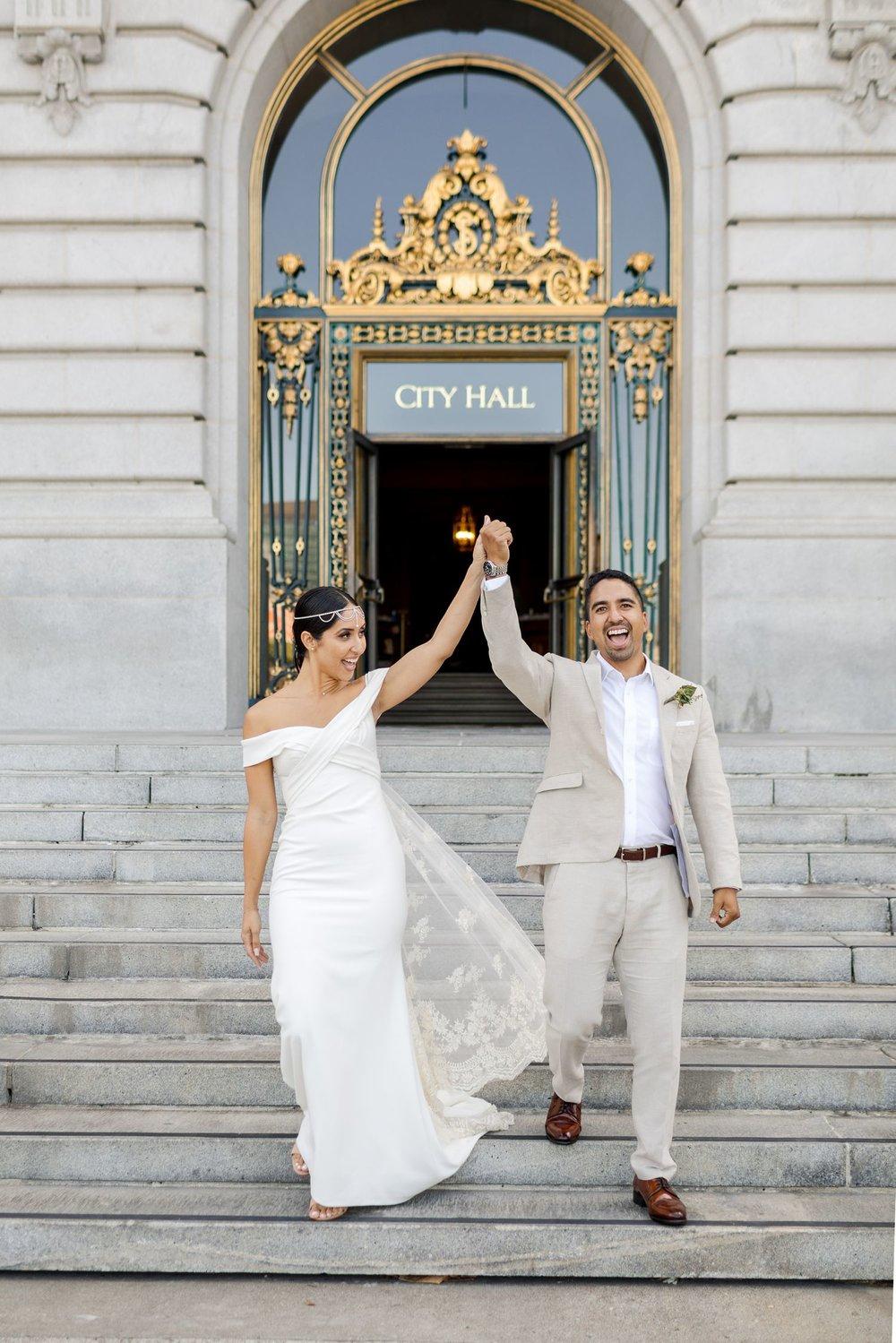 san francisco city hall wedding bhldn wedding dress
