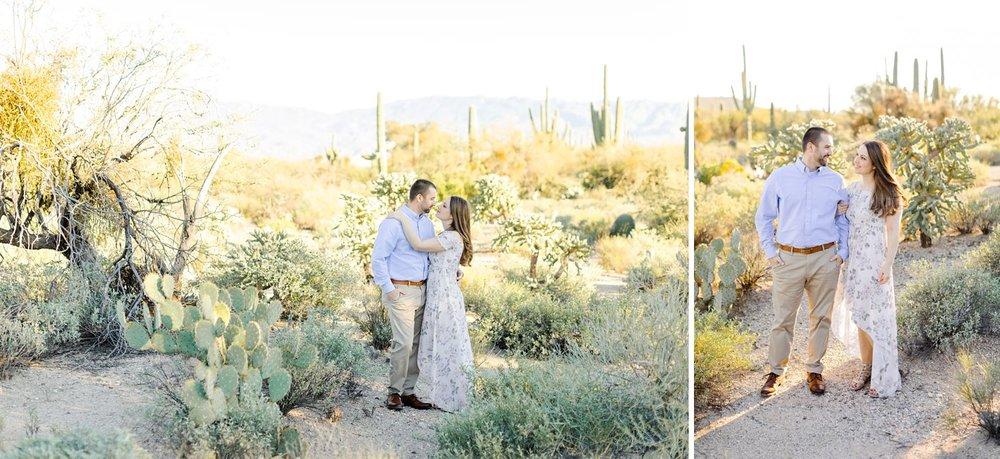 sabino canyon desert engagement photos