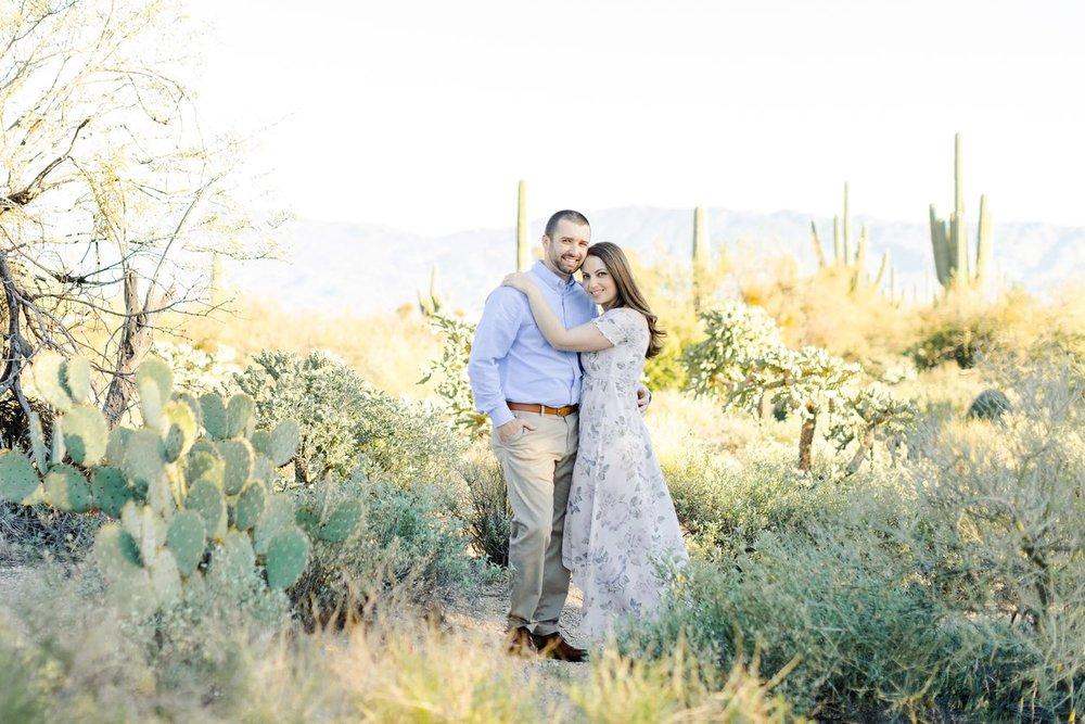 sabino canyon engagement photos