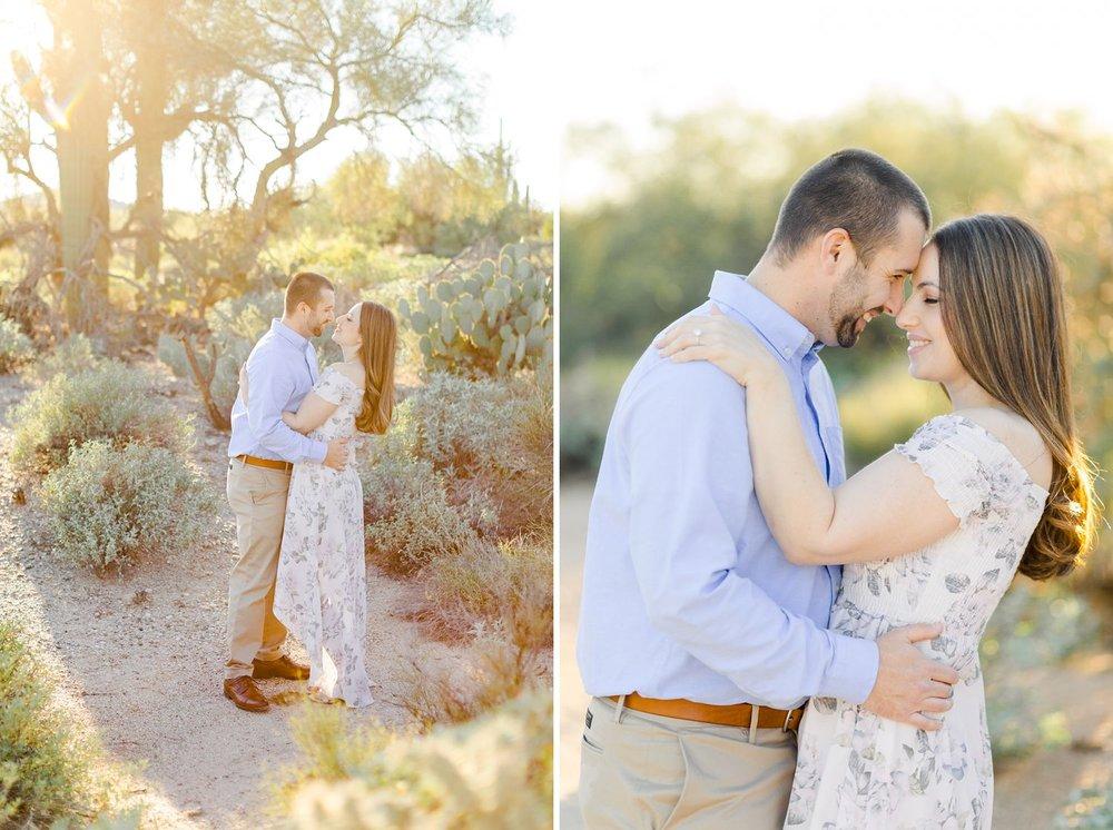 tucson desert engagement photos