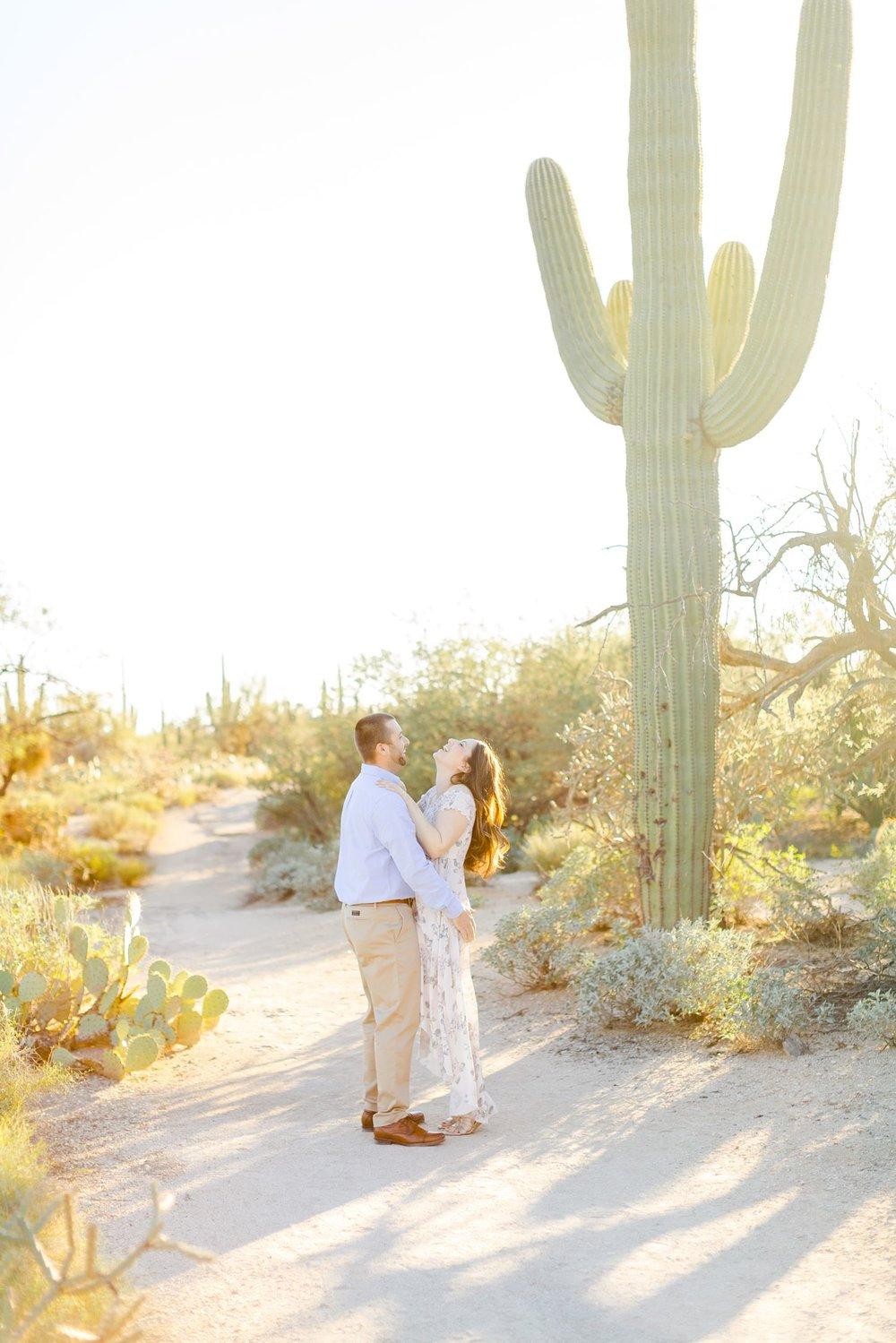 desert engagement photos tucson arizona