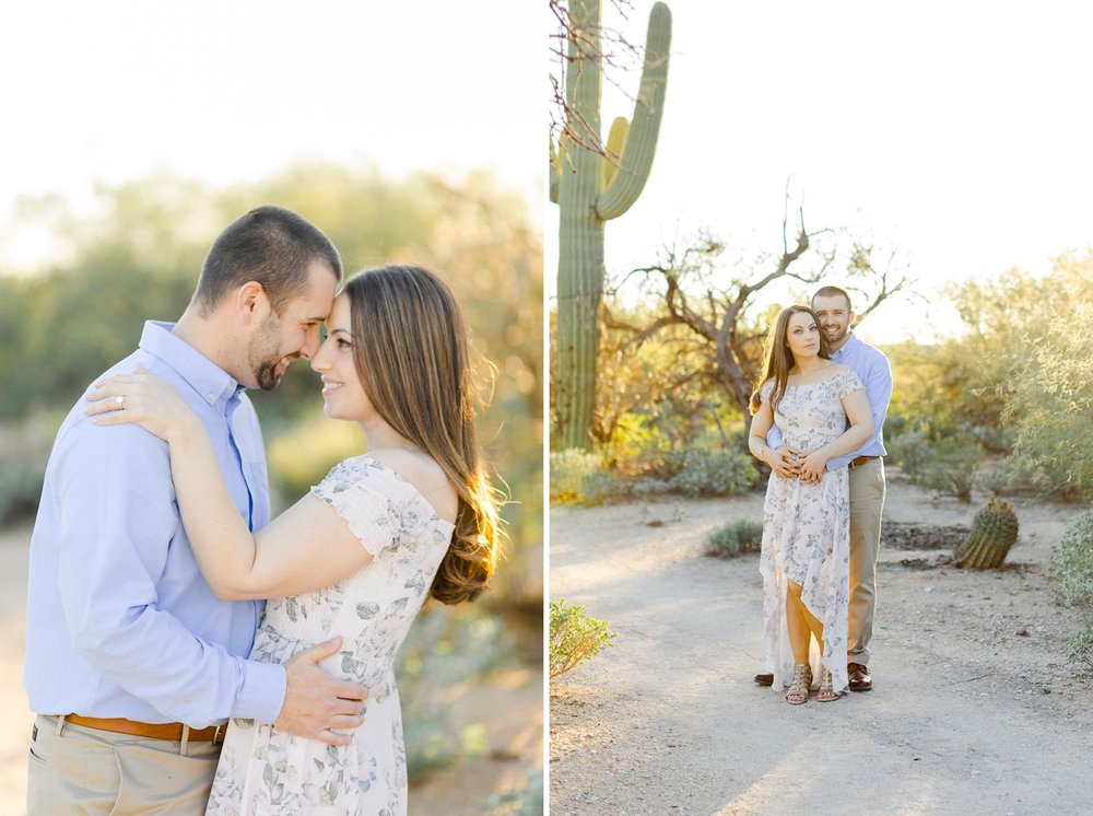 saguaro desert engagement photos tucson arizona