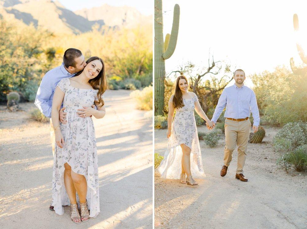 desert engagement photos