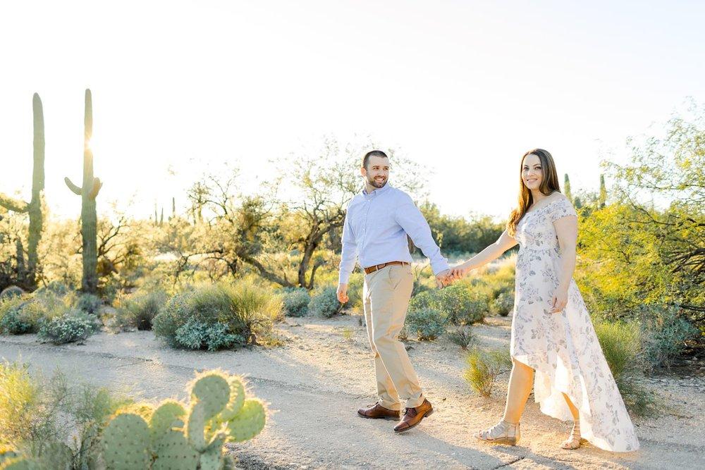 desert engagement photography sabino canyon