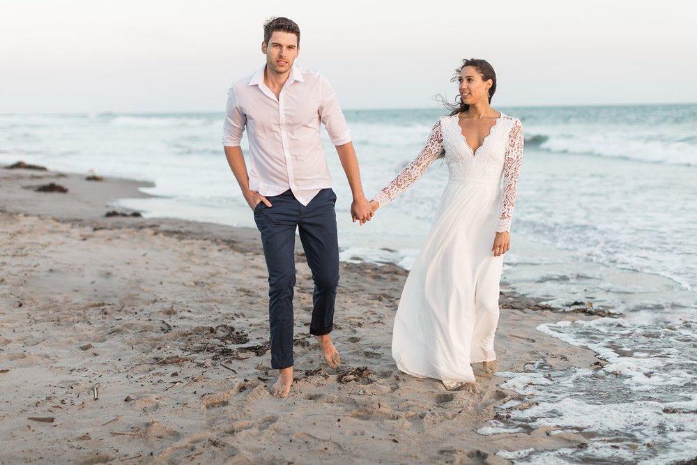 beach wedding photographer santa barbara