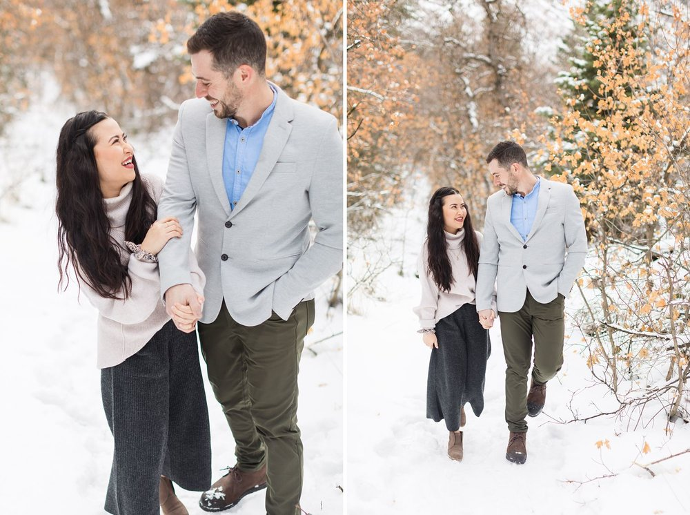 little cottonwood canyon engagement shoot