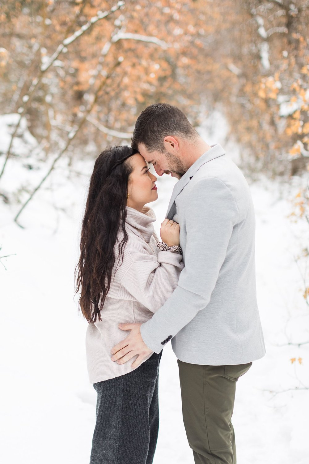 little cottonwood canyon engagement photos