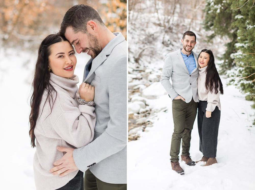little cottonwood canyon engagement session