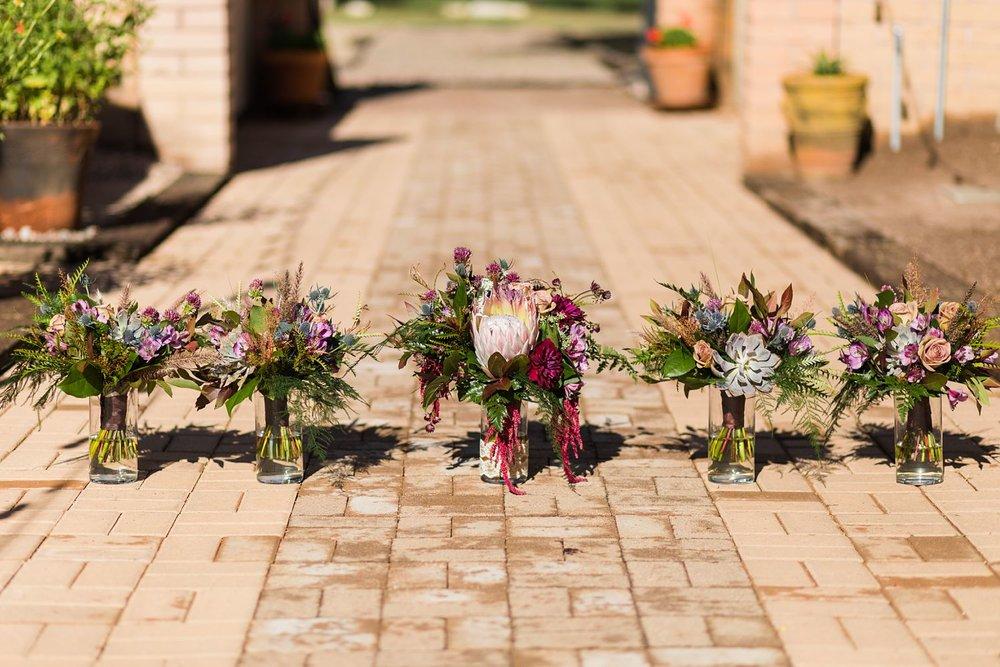 king protea wedding bouquet arizona