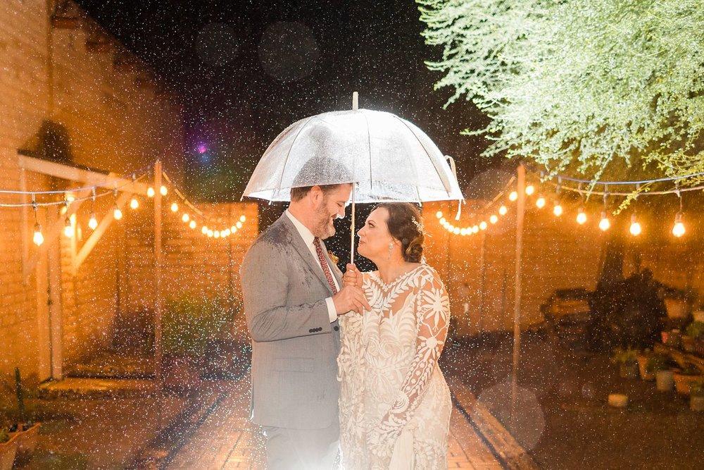 tucson wedding photographer rain and umbrella