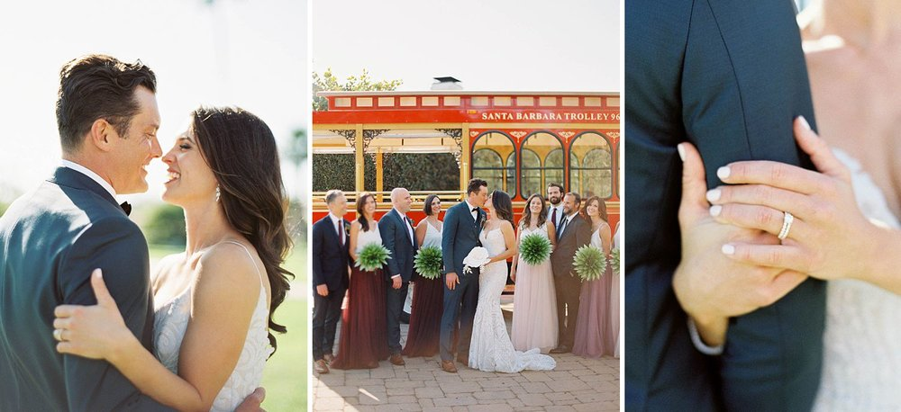 san ysidro ranch wedding with santa barbara trolley