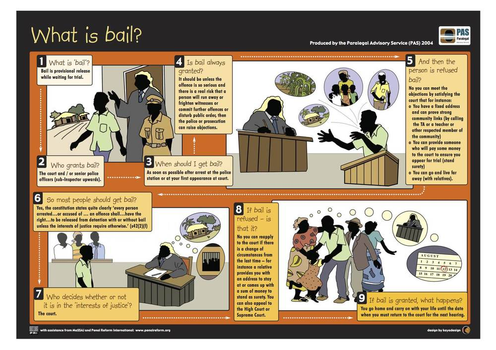 A photo of the poster 'what is bail?' - the full PDF file is available for download through the link above.