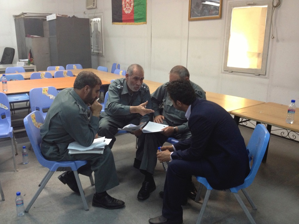 Group work in Kabul, April 2014