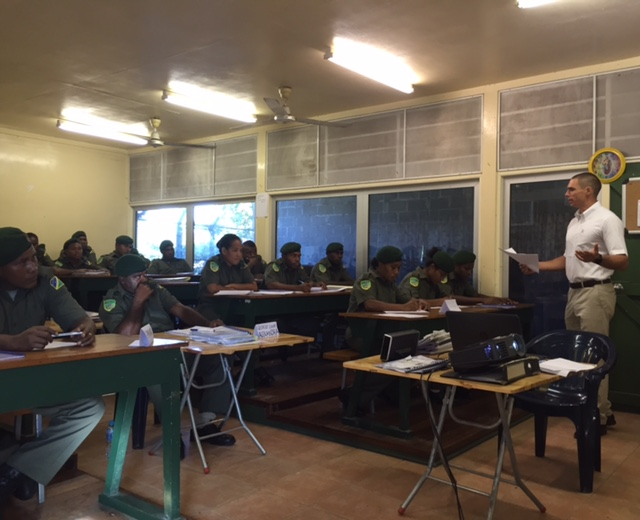 Induction training for recruits of the Solomon Islands Correctional Service, Honiara, January 12, 2017