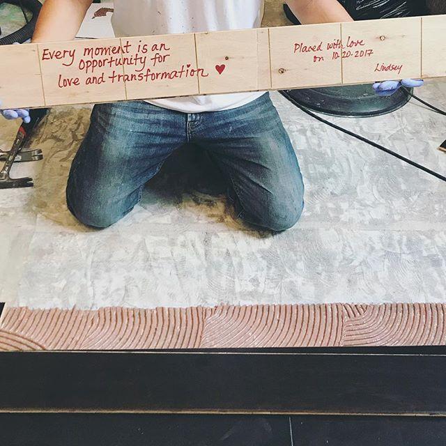 Things just got sentimental in the kitchen - thank you @sarah_nannen for the idea ❤️ #modchik_kitchenreno #secretmessage #lovemore