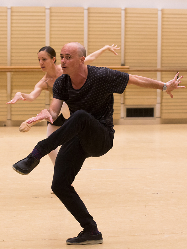 "REHEARSING ""SQUANDER AND GLORY"" WITH PRINCIPAL ARTIST, LEANNE STOJMENOV                              photo - kate longley"