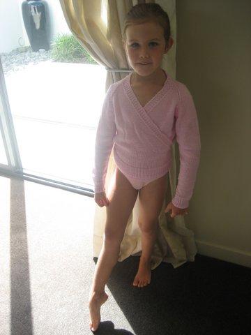 india as a baby ballerina!