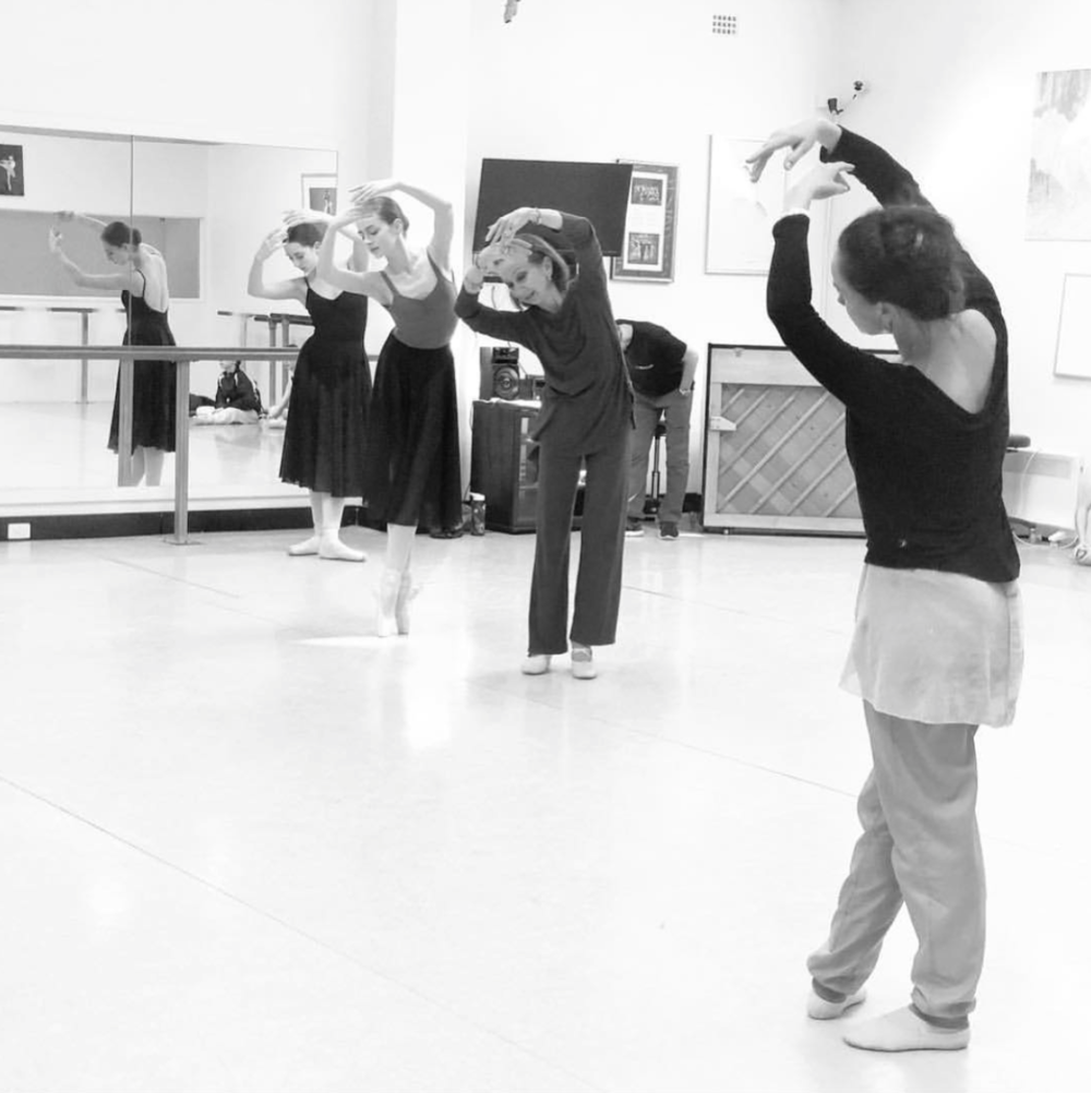 maddie rehearsing her role in giselle with maina gielgud and lucinda dunn
