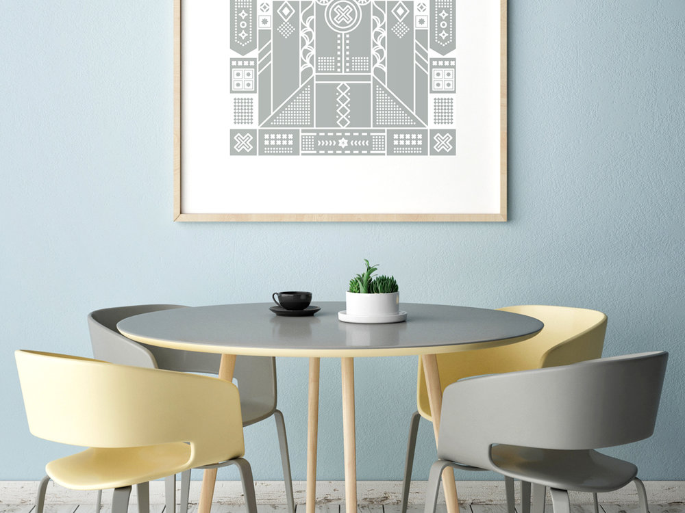 This screen printed poster is perfect if your looking to spruce up your home with some unique room art.
