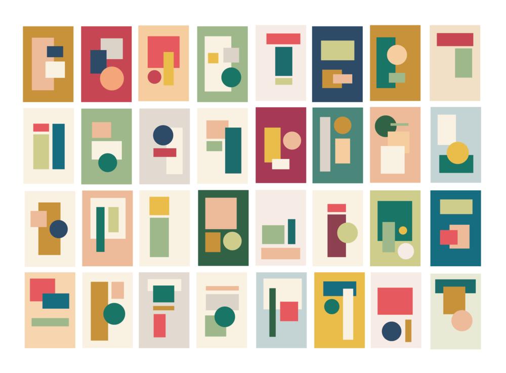 Initial color palette exploration