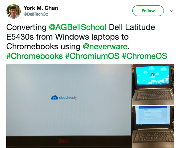 York Chan, Chicago Public Schools, Twitter quote