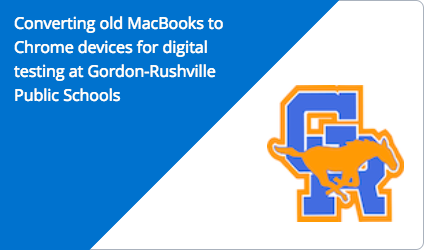 Converting old MacBooks to Chrome devices for digital testing at Gordon-Rushville Public Schools