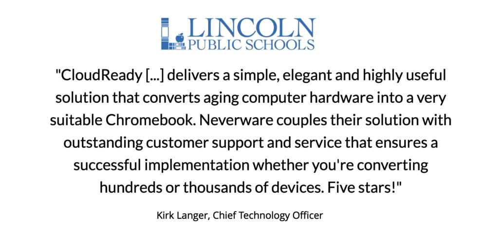 Kirk Langer, Lincoln Public Schools testimonial