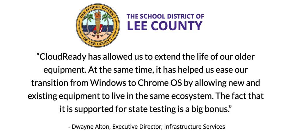 Dwayne Alton, Lee County Schools testimonial