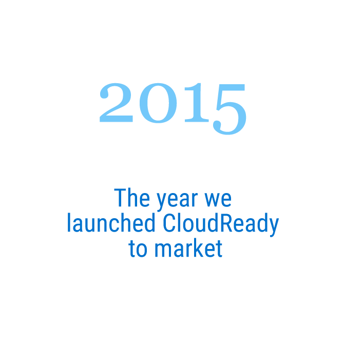 2015   The year we launched CloudReady to market
