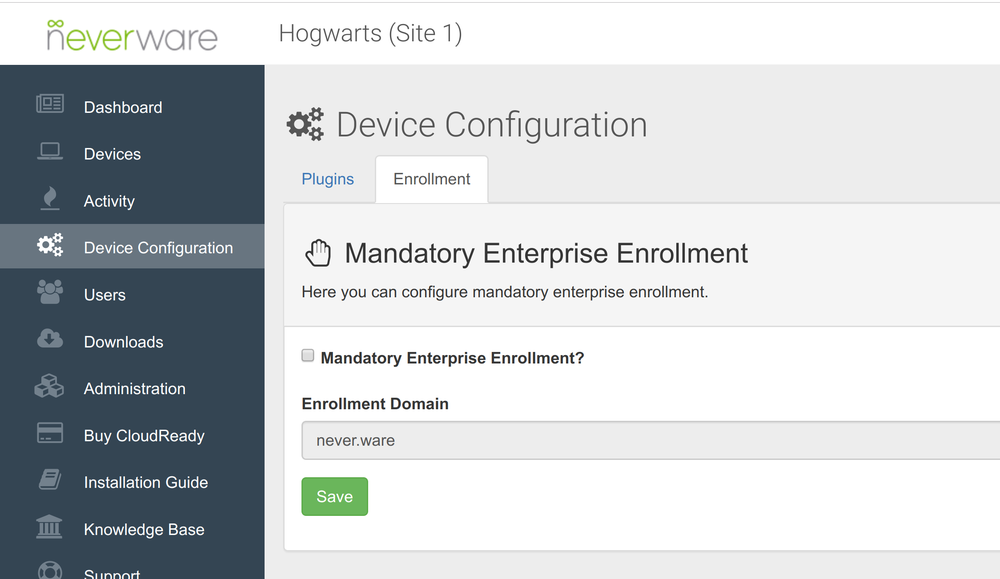 CloudReady new feature: Mandatory enrollment for new devices into the Google Admin console using Chrome Enterprise