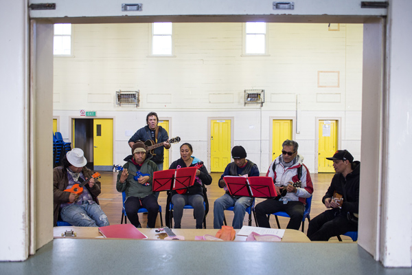 The orchestra rehearse a number