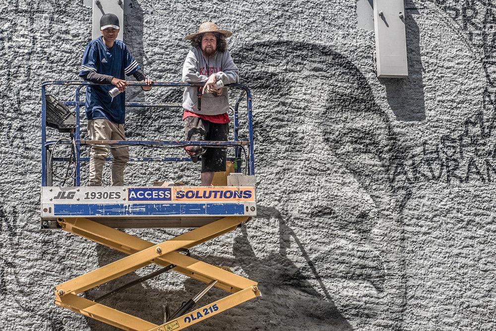 Artist Owen Dippie guides NRT student Teina
