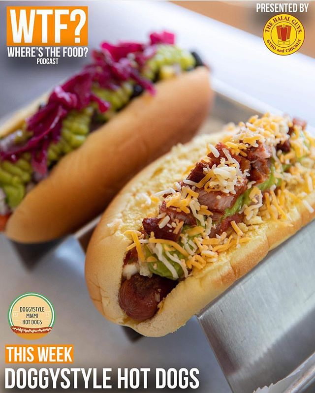 Take a listen! Very grateful to be on this amazing podcast #Repost @thefoode ・・・ Talking 🌭🌭🌭 with @DoggystyleMIA on this week's podcast episode of WTF? - Where's the Food? 😋⠀ —⠀⠀⠀⠀⠀⠀⠀ Listen at the LINK IN BIO! 🎧🎙🔊 (📸 by @jc_throughthelens) #localeats #gourmet #hotdogs #miaki #littlehaiti #eeeeeats