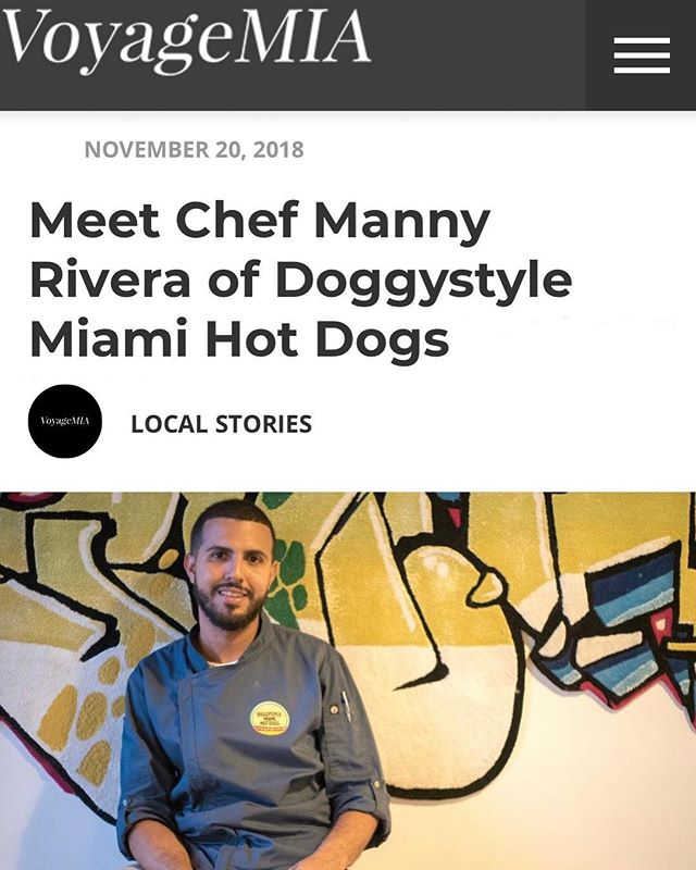 Thanks to the good people over at @voyagemiami for covering local stories like those of our own Chef @biscaynemanny ! Check out the article, the link is in our bio. #voyagemia #supportlocal #cheflife #gourmet #hotdog #concept #miami #local