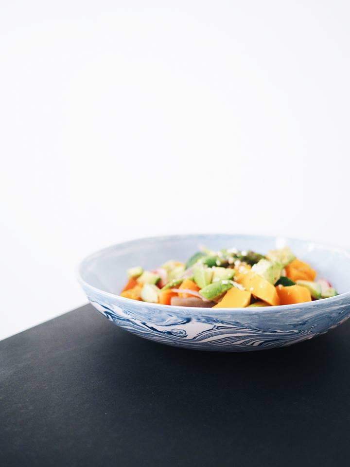 Plant-based diet. Pumpkin Salad I've made at home.