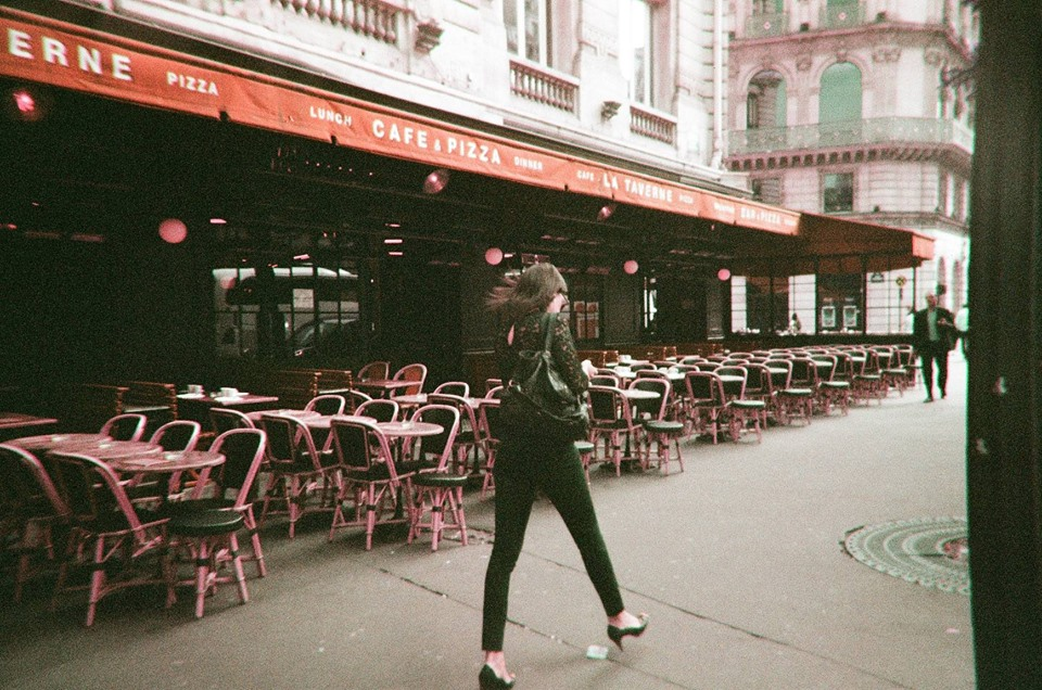 Impeccably dressed women walking on the street in Paris.