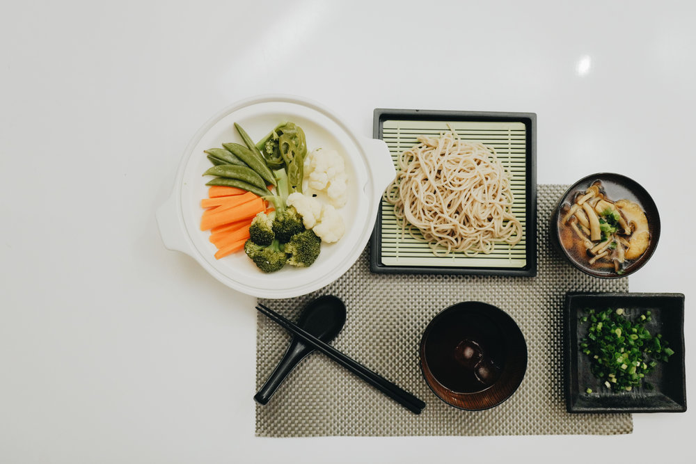 Japanese Vegan Dinner - Cold Soba.