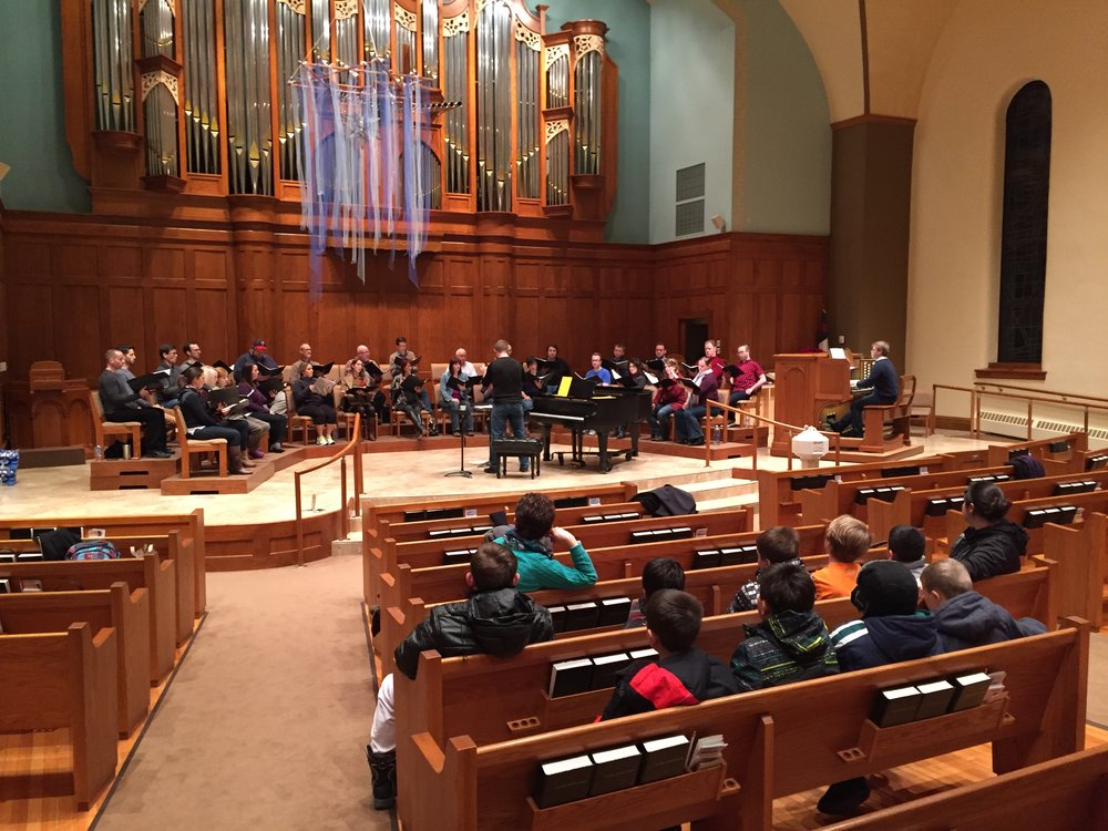 Rehearsing at First Congregational Church, Sioux Falls, South Dakota