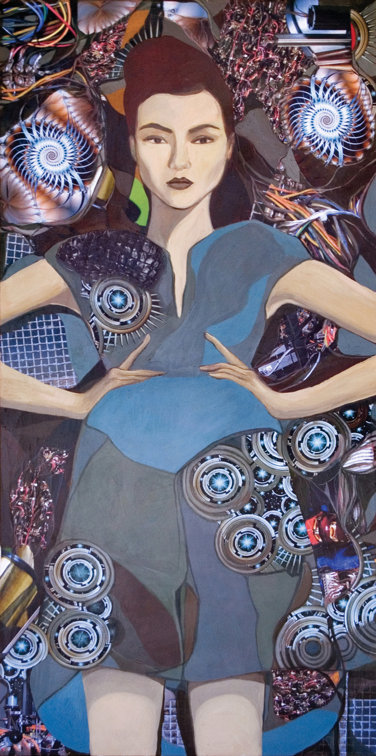 "My Personality is My Own  Mixed Media on Canvas 30"" x 60"", 2009"