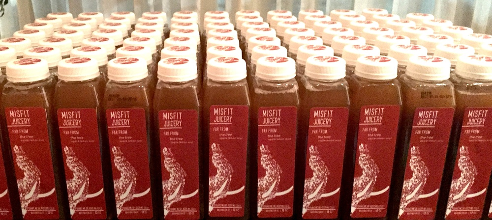 MISFIT bottles at the Science of Delicious event. Photo cred:   Edible DC