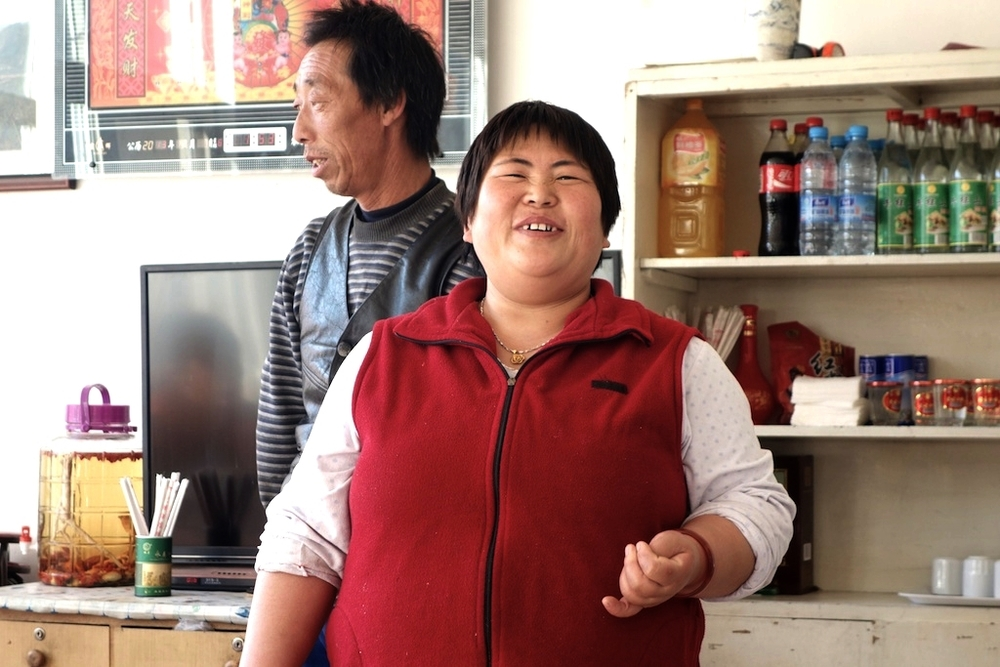 Zhang Yuzhen, 48, and Feng Sunshing, 52, at their restaurant