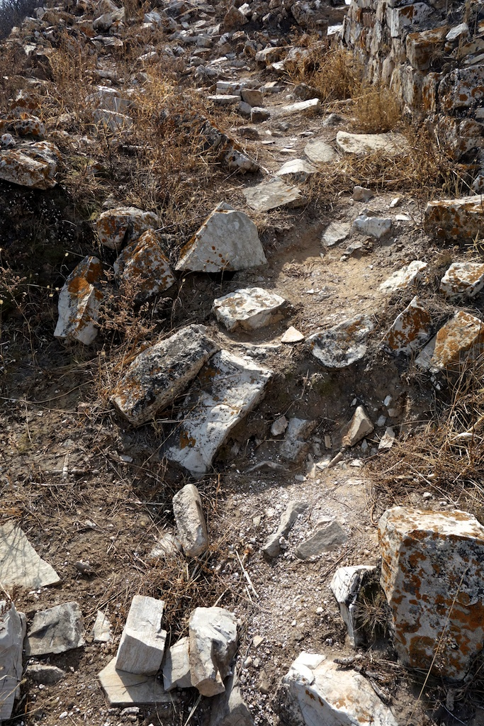 Over the centuries, thousands of villagers have used stones from the Wall to build or repair their houses. These sections are hard work for hikers.
