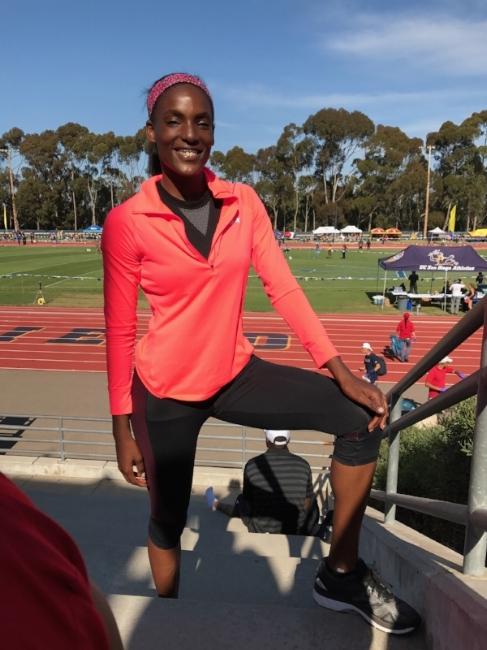 Amber Rosario after UCSD meet 4/22/17  Facebook.com/ambivurt