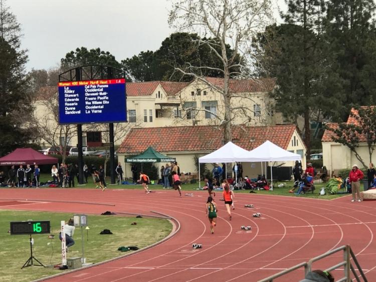 Amber Rosario 400m hurdles, Lane 7 @ Claremont-Mudd Scripps