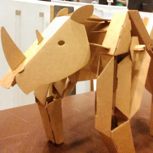 Cardboard rhino #techhive #weinvent