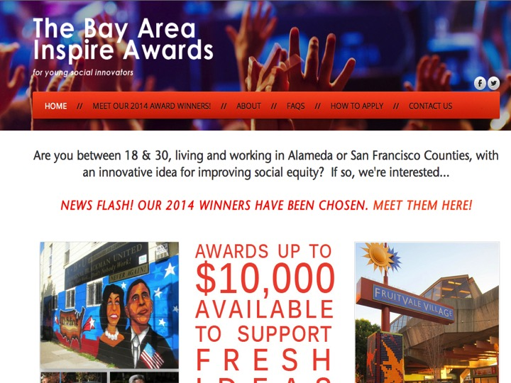 We are very grateful to the Bay Area Inspire Awards for their grant that covered the cost of the materials for the Haunted House.
