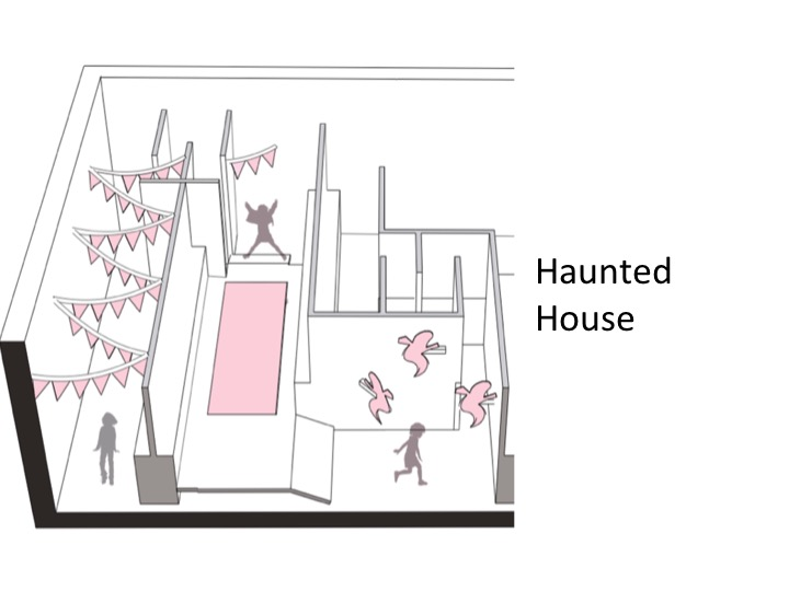 We proposed to build a haunted house...