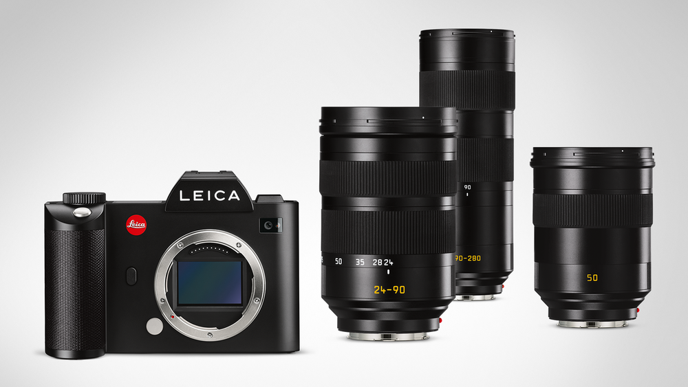 The SL-system with the current 24-90 and 90-280, as well as the yet to be released Summilux 50/1.4